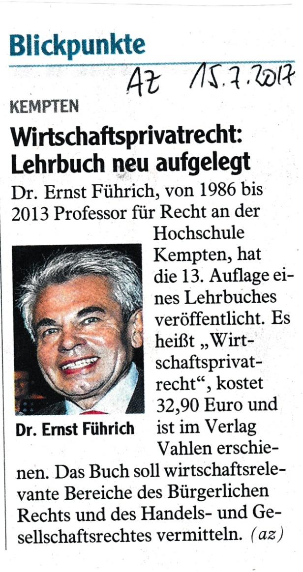 Allgäuer Zeitung WPR 2017